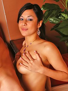 Busty latina getting her sexy tits ripped hard