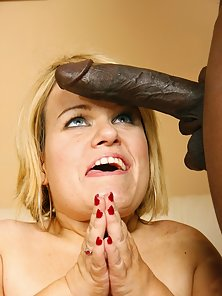 Midget Stella Takes On A Huge Black Cock