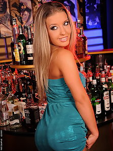 Hot blonde babe Bianca got fucket in an empty club