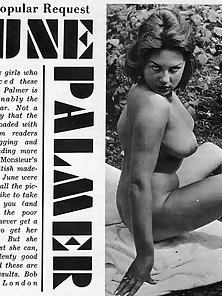 Voluptuous vintage sixties model June Palmer posing nude