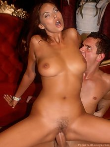 Tera Patrick gets a big dick in her mouth and pussy