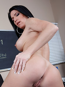 Sexy teacher gets her wet pussy fucked on the desk