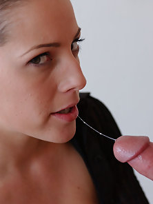 Holly Hollywood shows off her sexy natural body while sucking cock and getting fucked in three diffe
