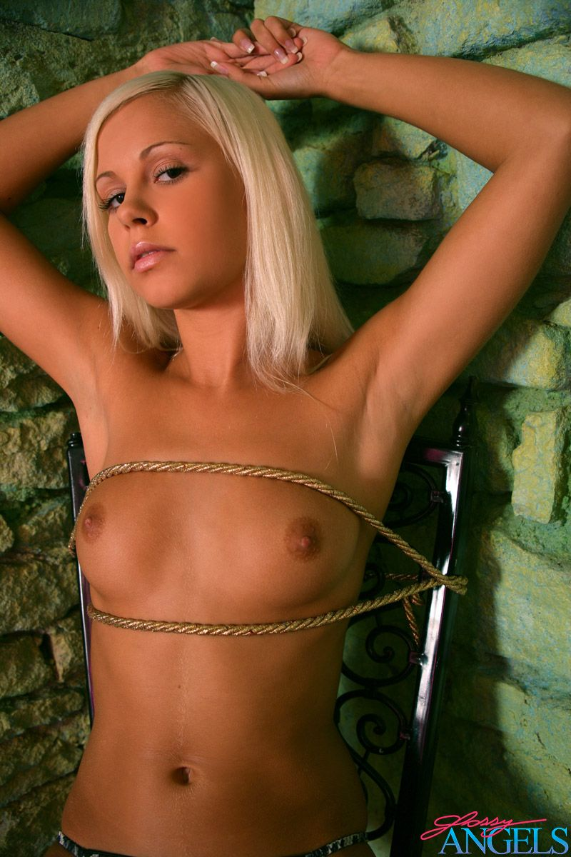 Stunning Blonde Beauty Tied Up Naked In A Creepy Dungeon -9003