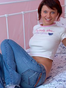Brunette teenie with great buttocks eats dick and then rides it before cumshots getting.