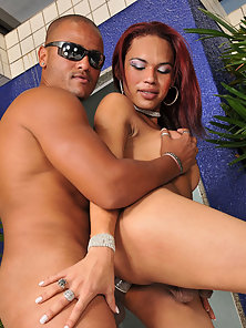 Latina Tranny Grinds Her Ass On A Cock