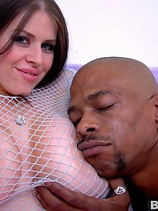 Daphne Rosen and her huge melons pounded by big black dick