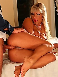 Tanned Blonde Is Ass Fiend