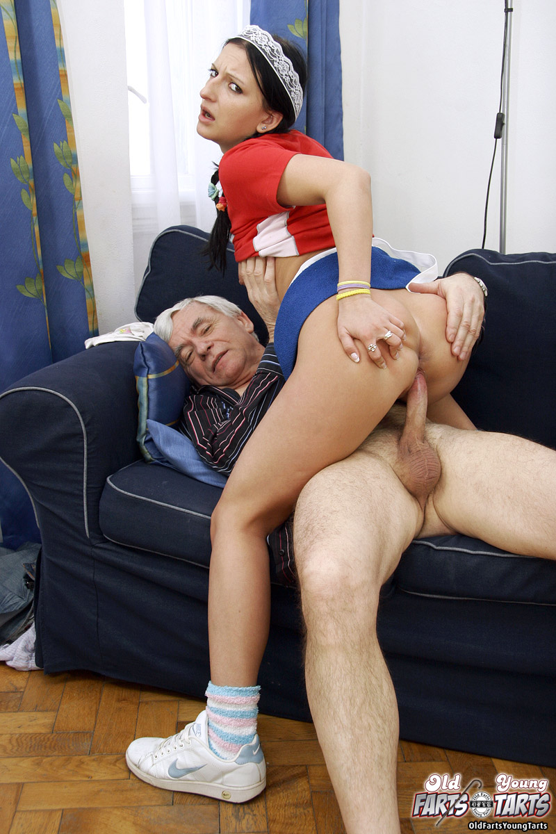 Horny Old Man Seduces His Teen Maid Into Sexual Adventure -8466