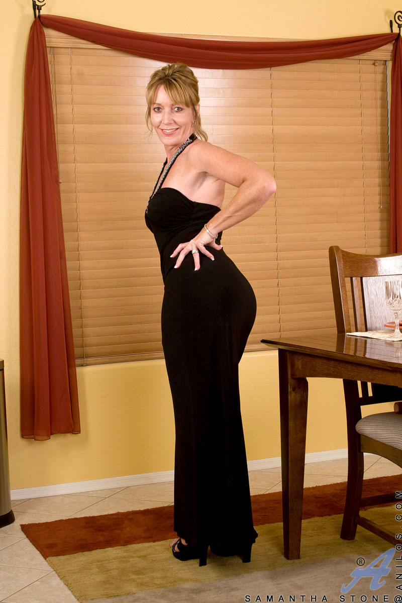 Busty mature evening gown something also