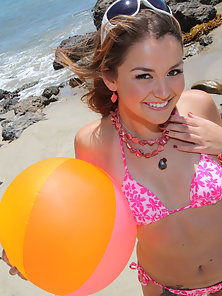 Allie Haze-Hot teen beach bunny Allie loves beaches, blowjobs, boning and cum.