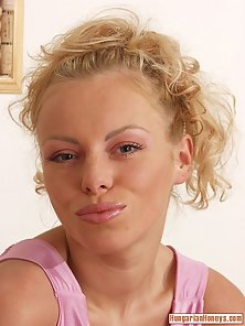 Close up pics of Lisa Kosteckova stretching her pussy lips