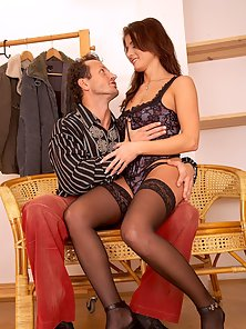 Gorgeous Brunette Beauty Gets Seduced and Hard Nailed By Riding