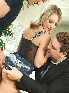 Sexy Blonde Amy Gets Pounded Hard By Two IRS Agents