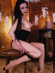 Great Spread Of Hot looking Goth Chick