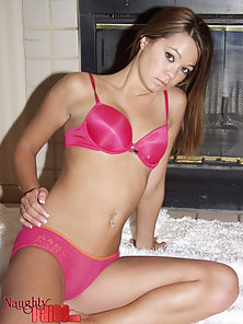babe laying in awhite fur coat
