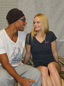 Handsome sporty black man fucks wet holes of white girl