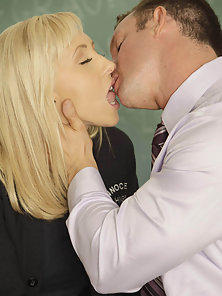 Jessica Lynn gets fucked by the principal and facialized