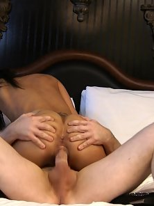 Cute petite ebony babe with nice small tits is ready to get her tight black pussy boned and cummed o