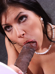 Hot latina gets a big black cock in her ass at work
