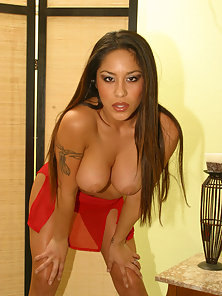 Lucious latina gets her big firm tits ripped