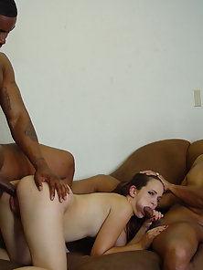 Hard interracial gangbang crack