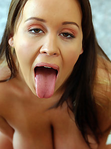 Brandy loves cock so much that she puts it in her mouth and pussy before getting fucked in her huge