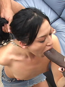 Thirsty Melisa swallows an entire cum container.
