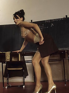 Naughty School Teacher Gets Naked After Class