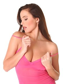 Kyla Cole takes off her pink top