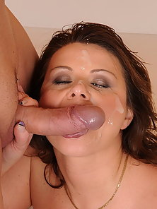 Hot milf gets fucked by a gig and hard young dick