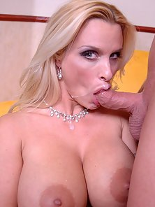 Mega huge titted mature Holly Halston showing how milfs can get fucked