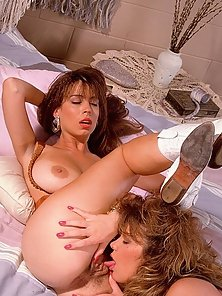Christy Canyon and Paula Price playing nude
