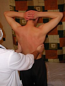 Young twink comes to male doctor with the only purpose to get his body examined well.
