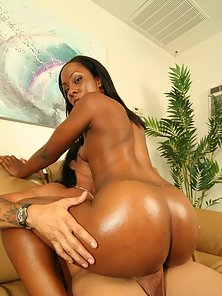 Black goddess with a round juicy butt getting fucked