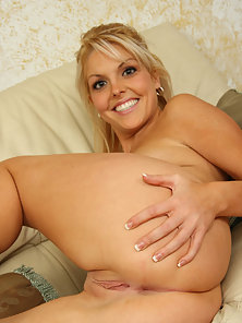 Shayne Ryder bends over and has her tight snatch stretched out