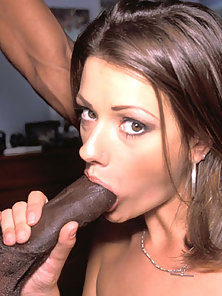 Hot white brunette girl getting some big black penis in her ass
