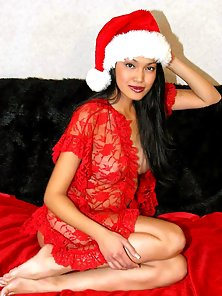 Asian amateur wish you a very sexy christmas