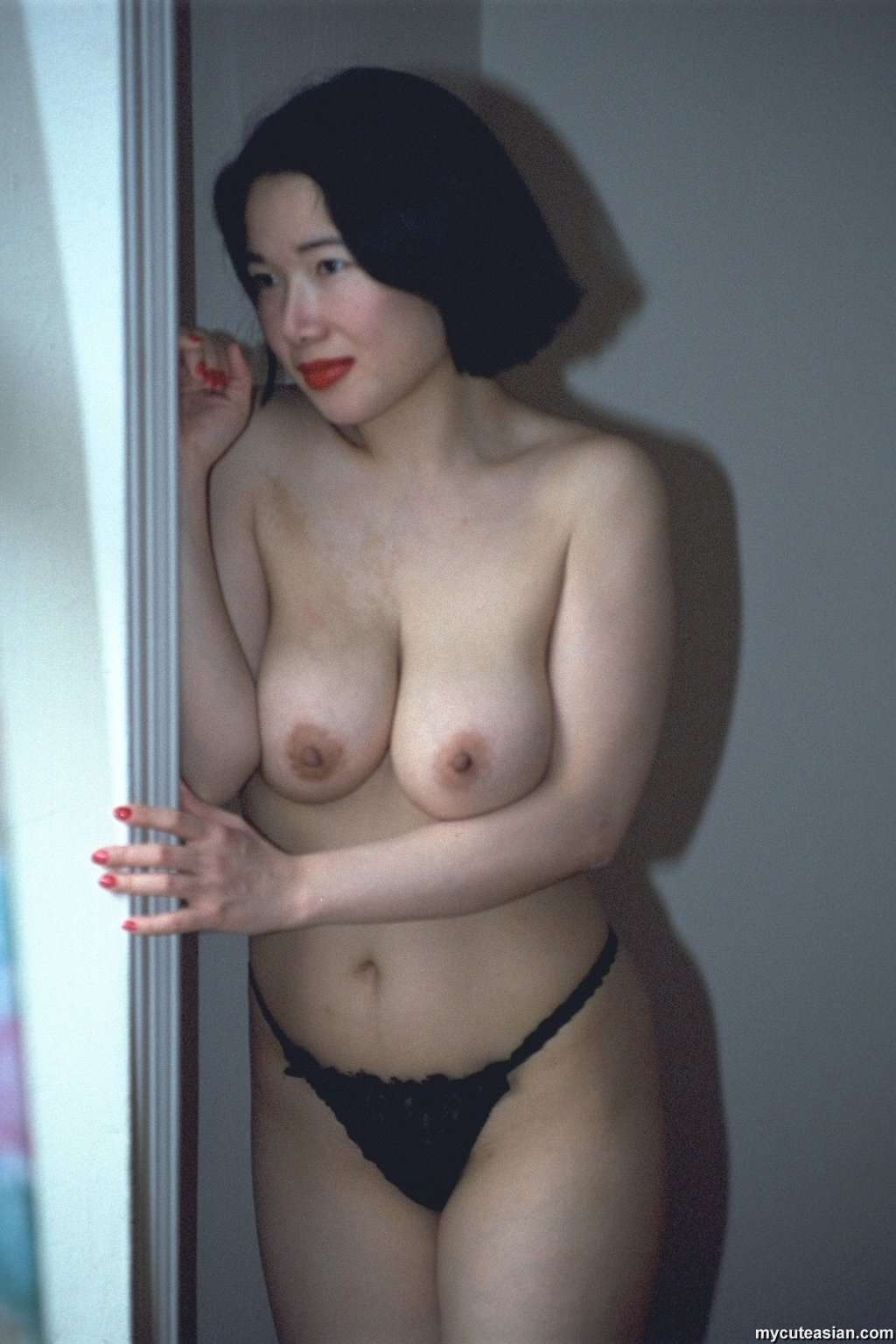 Busty midget woman