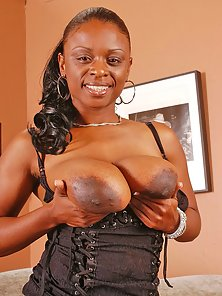 Busty ebony chick getting big juggs fucked