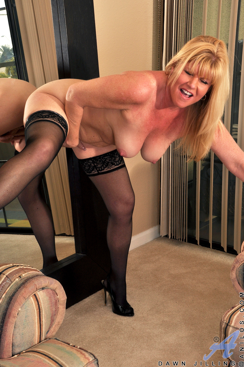 Thick mature milf dildo charming