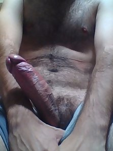 Showing off my hard cock