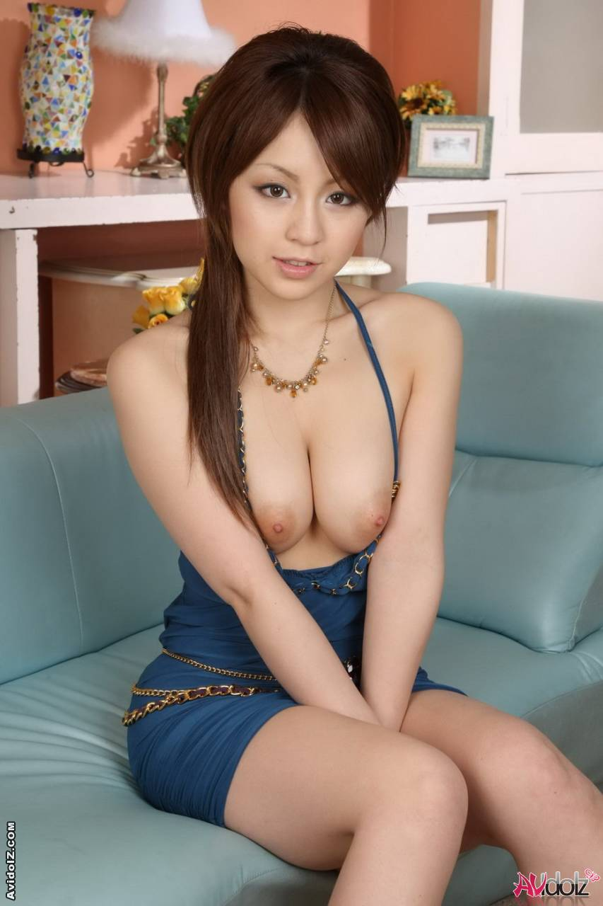 Busty Nanami Takase in mini skirt displays her perfect boobs