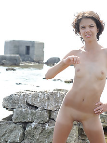Slim cutie adores refreshing her astonishing body with calming salt water of the ocean. Fantastic cu