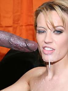 Hot Holly takes huge cumshot in face