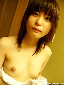 Cute young japanese coed in uniform gets her tight pussy banged from behind