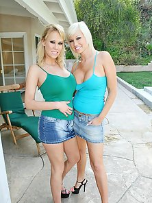 Two busty sexy teens getting ripped by fat cock