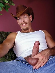 Cowboy hat wearing cutie lets you peek his package