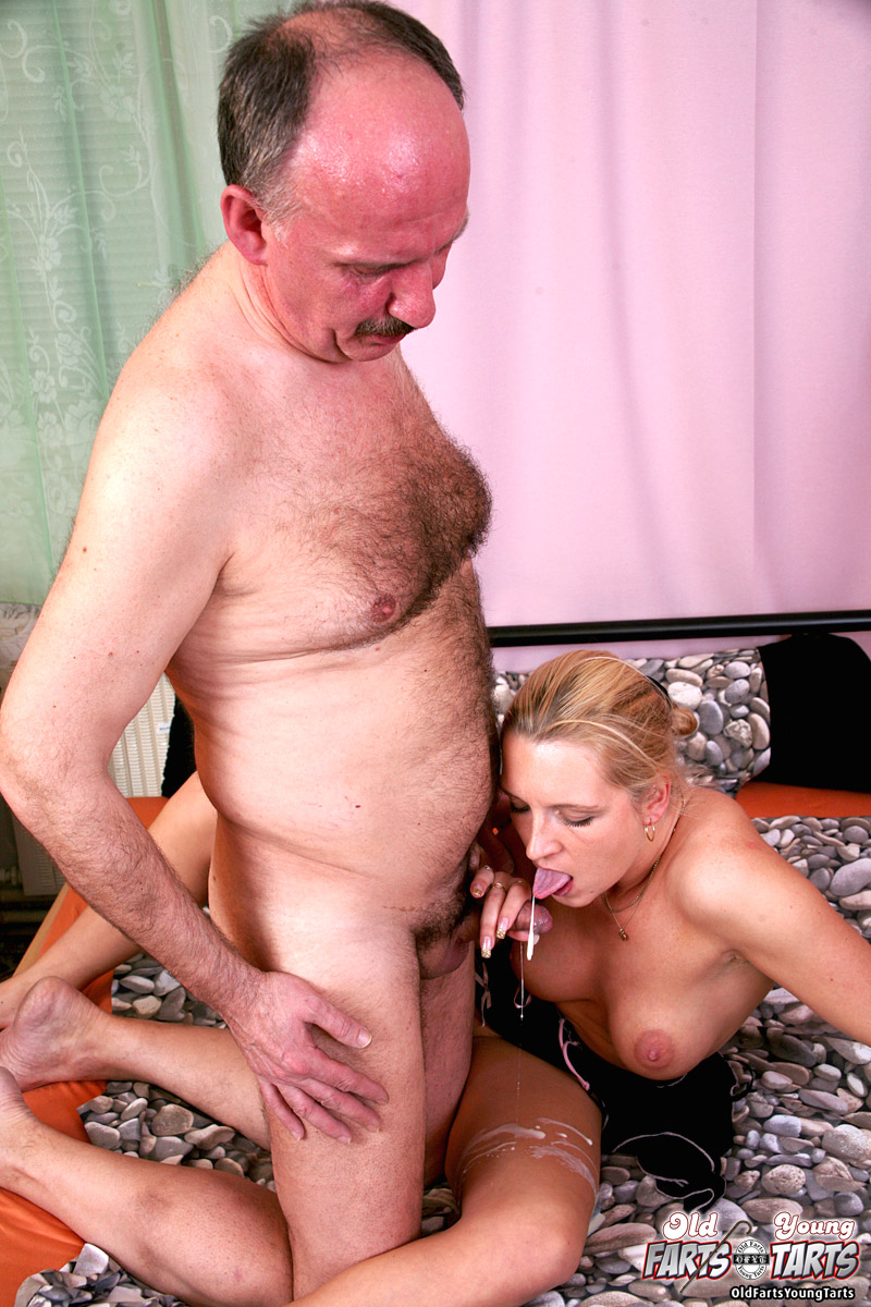 Busty Blonde Teen Girl Tasting Grandpa His Cumload - Ass Point-1582