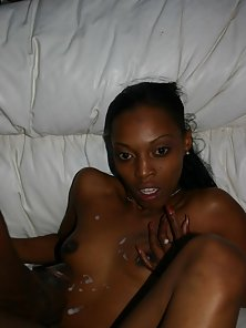 Sexy sista with a firm black ass rides an angry black monster cock